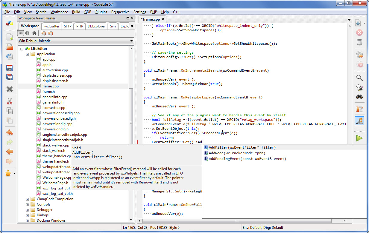 Codelite A Free Open Source Cross Platform C C Ide