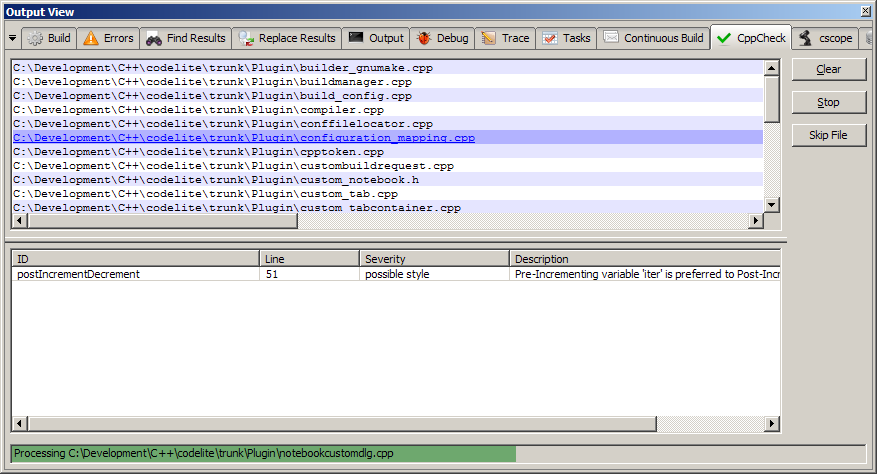 Cppcheck full screenshot