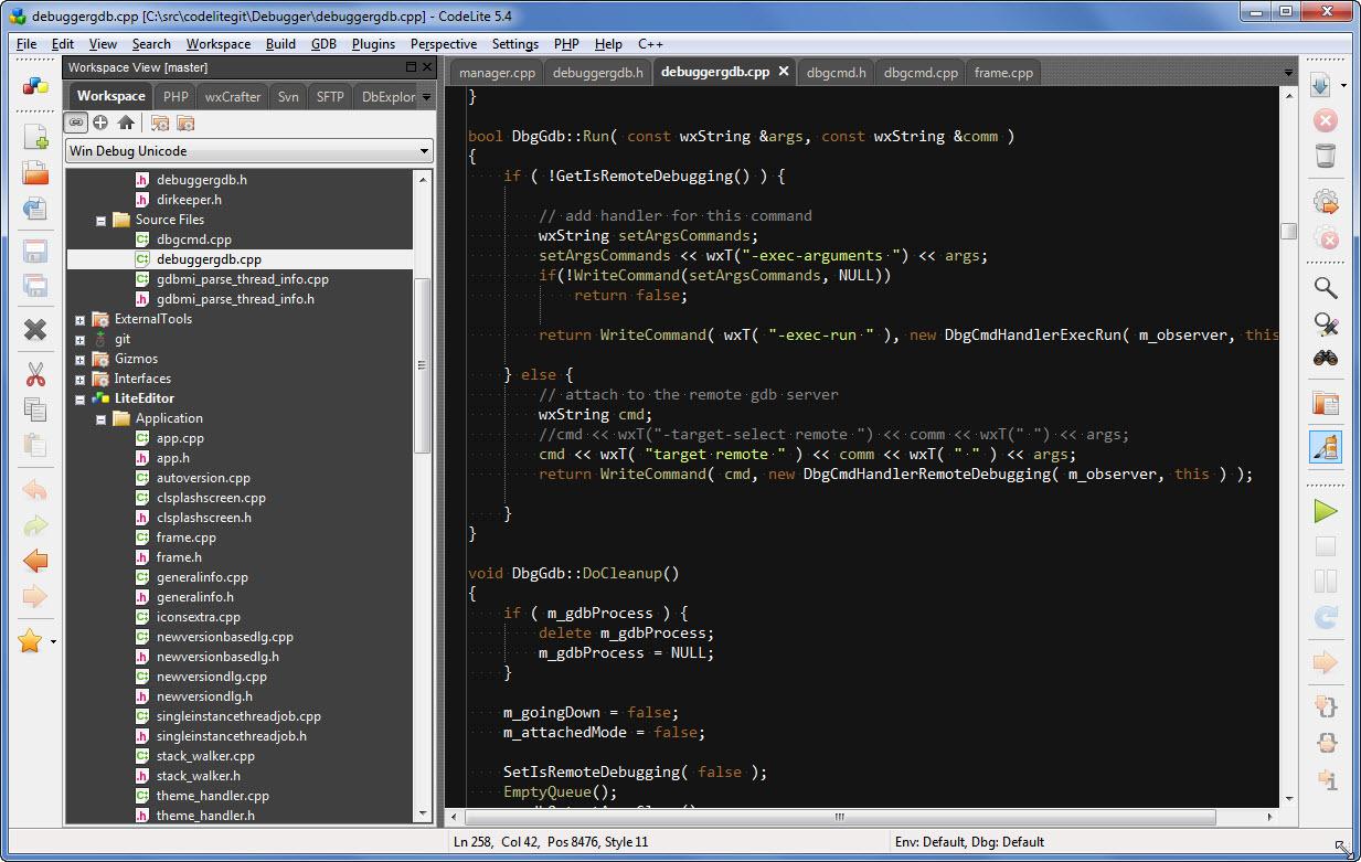 Codelite A Free Open Source Cross Platform C C Php