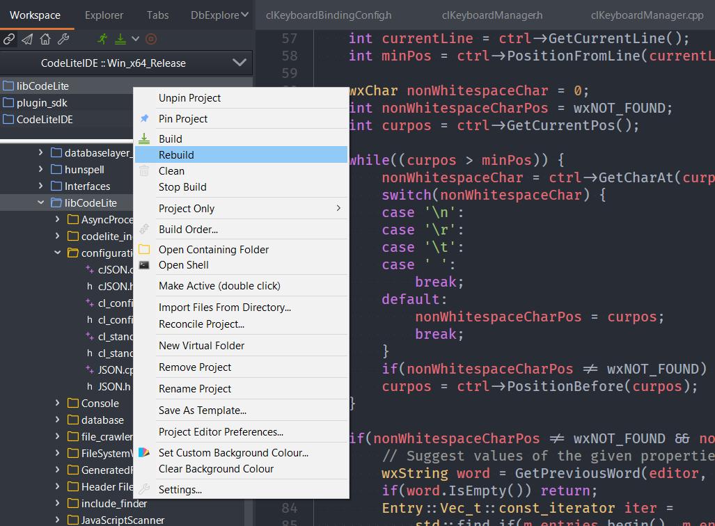 CodeLite IDE | Main / ReleaseNotesCodeLite13