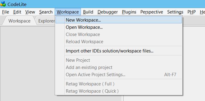 CodeLite IDE | Main / Nodejs